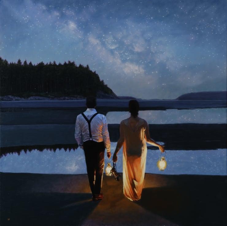 Iain Faulkner Stargazers, 2019 Oil on canvas 91 x 91 cm 36 x 36 in