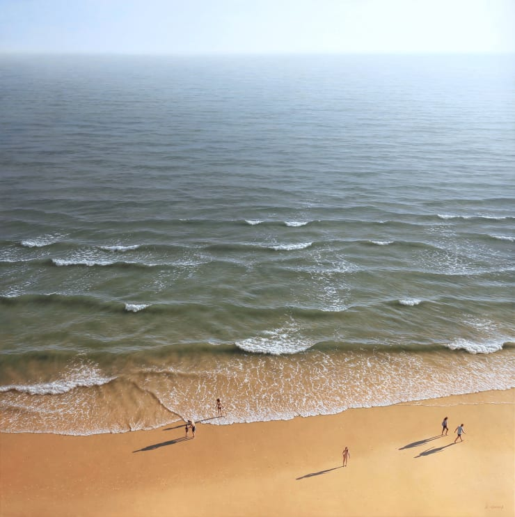 Antonio Cazorla On the Beach, 2019 Oil on canvas 100 x 100 cm 39.4 x 39.4 in
