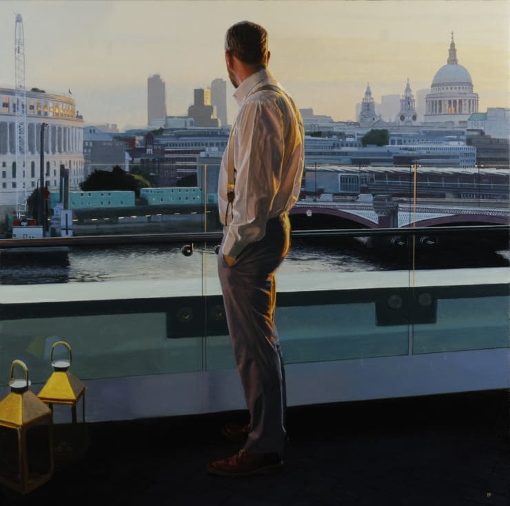 Iain Faulkner First Light, Blackfriars Bridge, 2018 Oil on canvas 91 x 91 cm 36 x 36 in