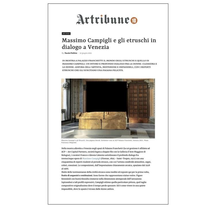 Massimo Campigli e gli etruschi in dialogo a Venezia