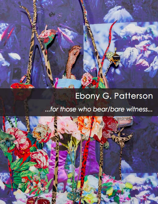 Ebony G. Patterson: ...for those who bear/bare witness...