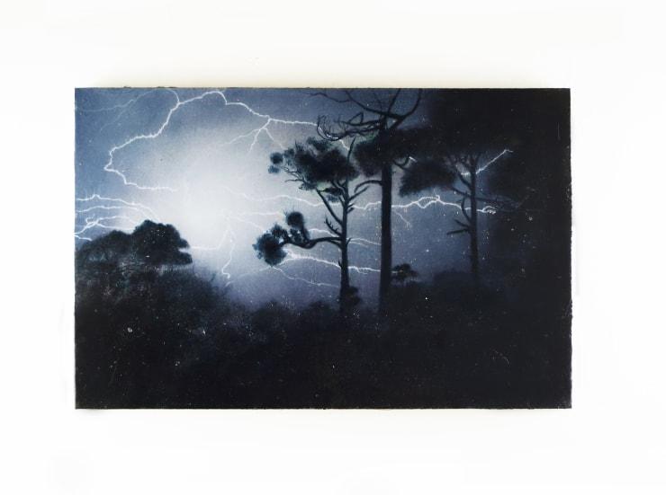 Fiona Finnegan, Tupelo, 2020, Oil and acrylic on wood, 32 x 50 cm