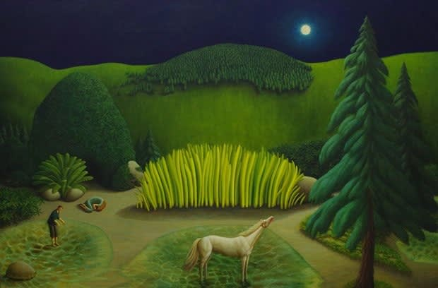 Helen Flockhart, Shallows, 2017, oil on linen, 102 x 152 cm
