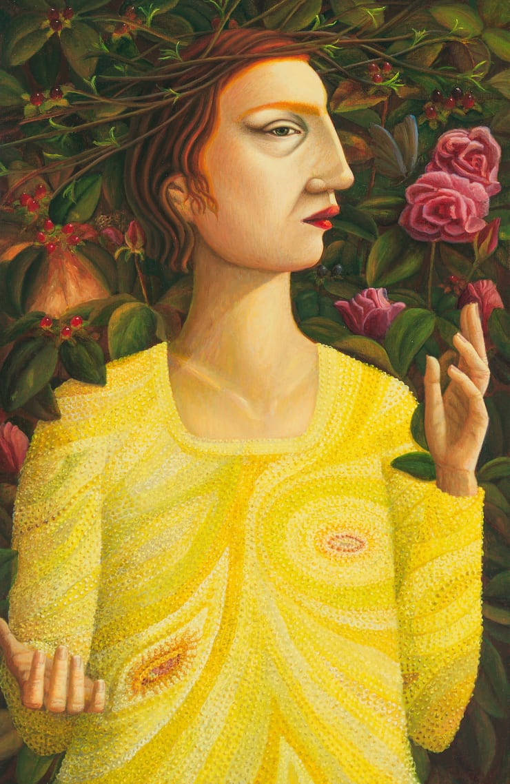 Helen Flockhart, Indian Summer, 2018, oil on board, 40 x 26 cm