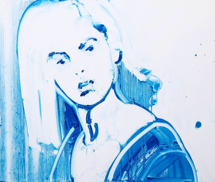 Ilona Szalay, Witness 2, oil on aluminium, 40 x 50 cm