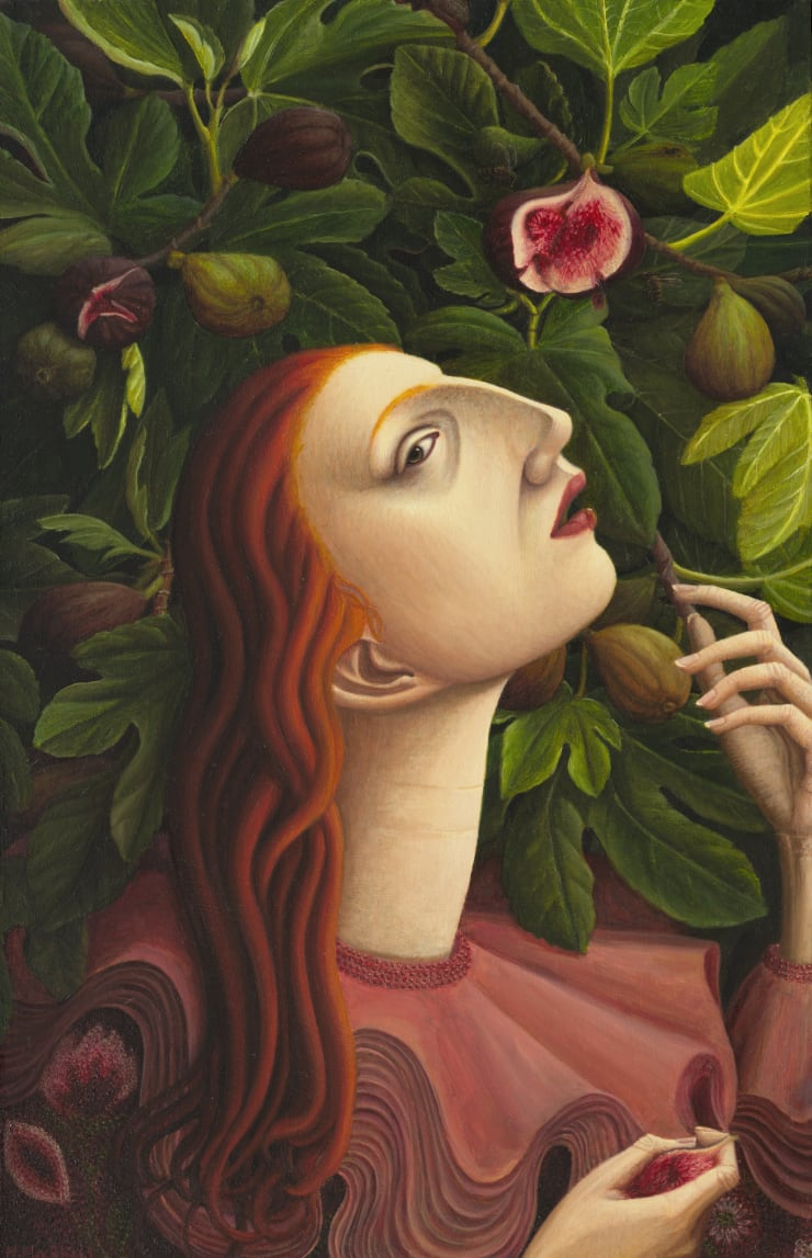 Helen Flockhart, Crooked Rib, 2018, oil on board, 40 x 26 cm