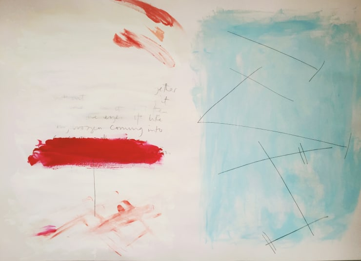 2016 42 x 60cm Acrylic and pencil on paper