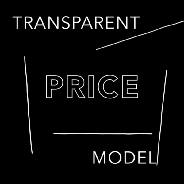 Transparency is key in building trust- so we put the prices on the website and will assist artists to price...