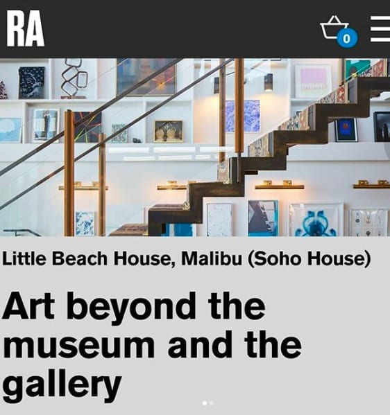 Speaker at the Royal Academy about 'Art beyond the museum and the gallery'