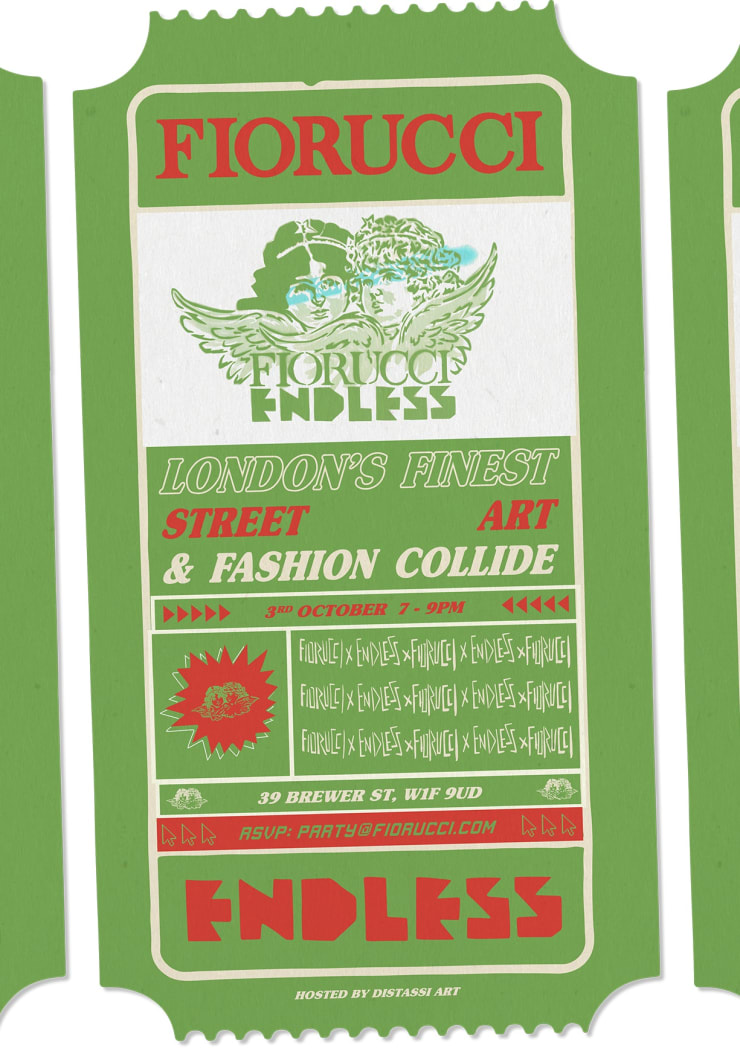 Distassi Art present 'Endless x Fiorucci - London's Finest Street Art and Fashion Collide'