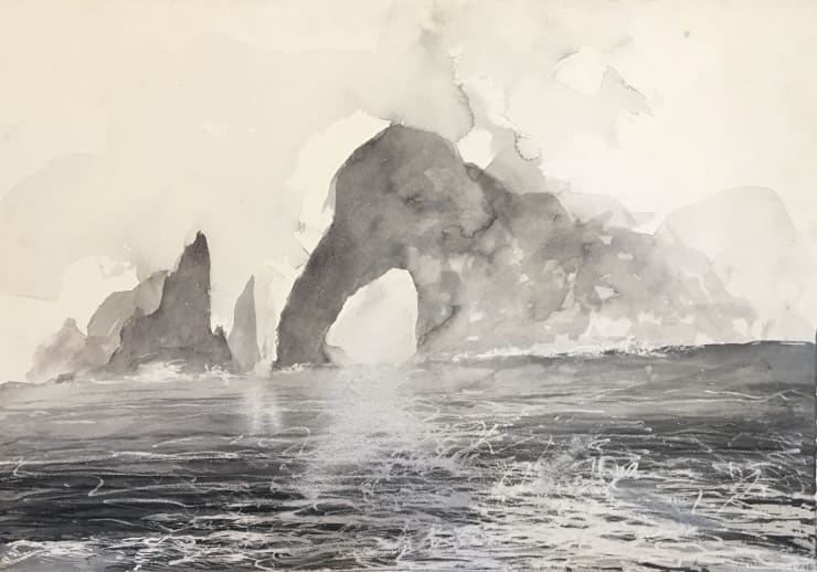 Norman Ackroyd Cow Rock - Kerry, 2016