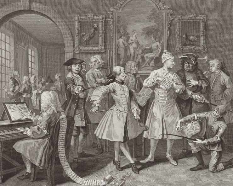 William Hogarth A Rake's Progress, Plate 2, 1735