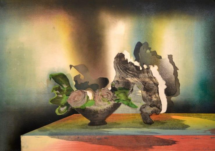 Sophie Layton Still Life - Rose & Driftwood I, 2019