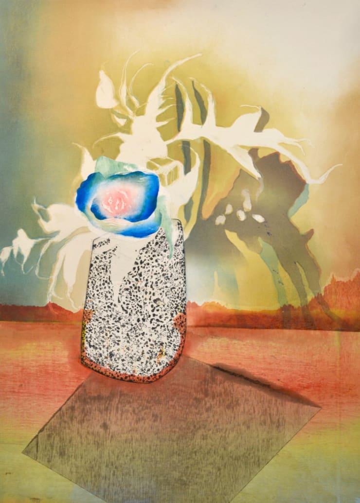 Sophie Layton Still Life - Blue Rose & Pot, 2019