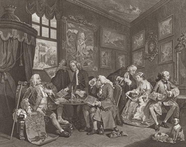 William Hogarth Marriage A-la-Mode, Plate 1, 1745