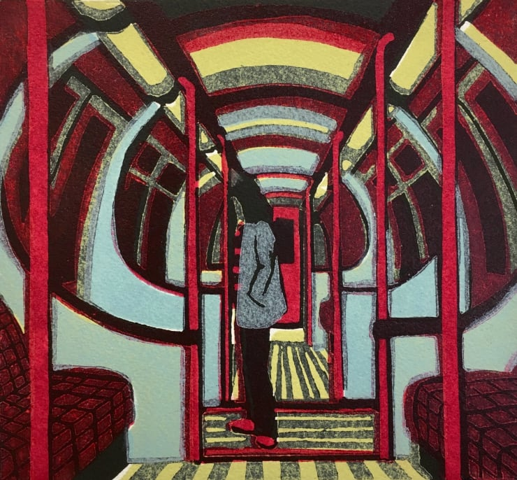 Gail Brodholt Downtown Train, 2012