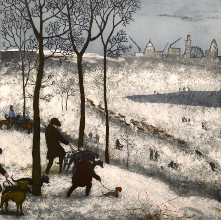 Mychael Barratt Richmond Park - Winter, after Bruegel, 2019