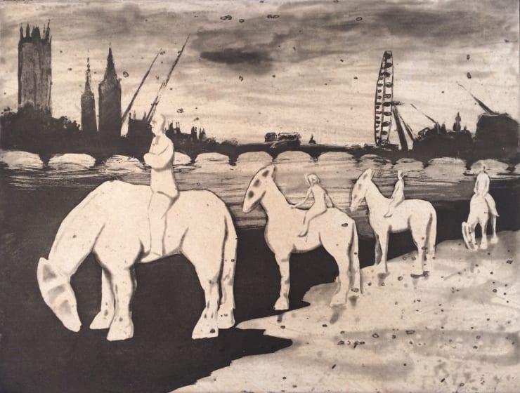 Mychael Barratt Urban Myths VII - Horsemen of the Apocalypse at Albert Embankment