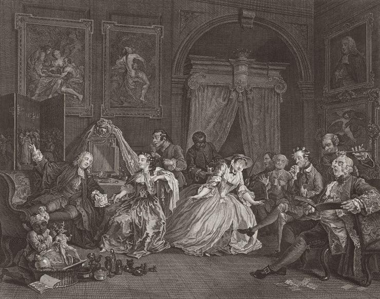 William Hogarth Marriage A-la-Mode, Plate 4, 1745
