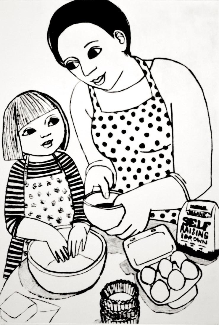 Anita Klein Making Cupcakes, 2019