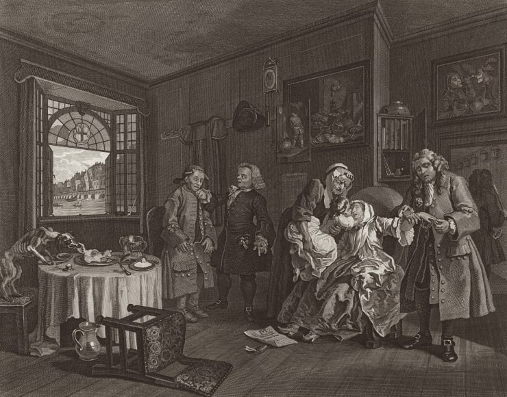 William Hogarth Marriage A-la-Mode, Plate 6, 1745