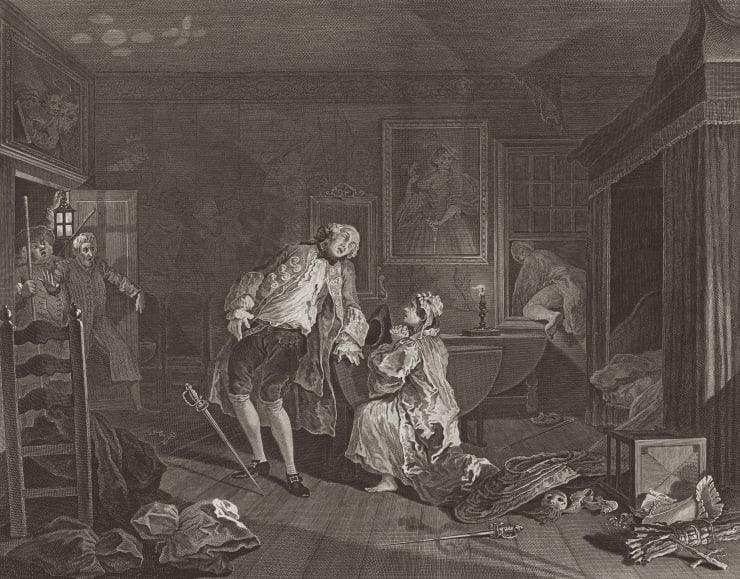 William Hogarth Marriage A-la-Mode, Plate 5, 1745