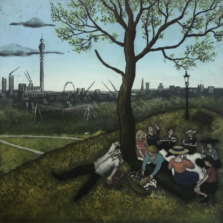 Mychael Barratt Primrose Hill - Summer, after Bruegel, 2019