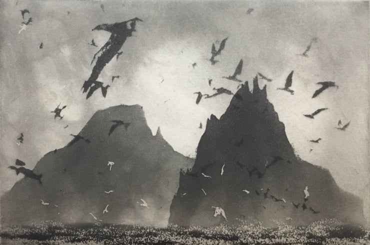Norman Ackroyd Blue Cove - Skellig, 2019