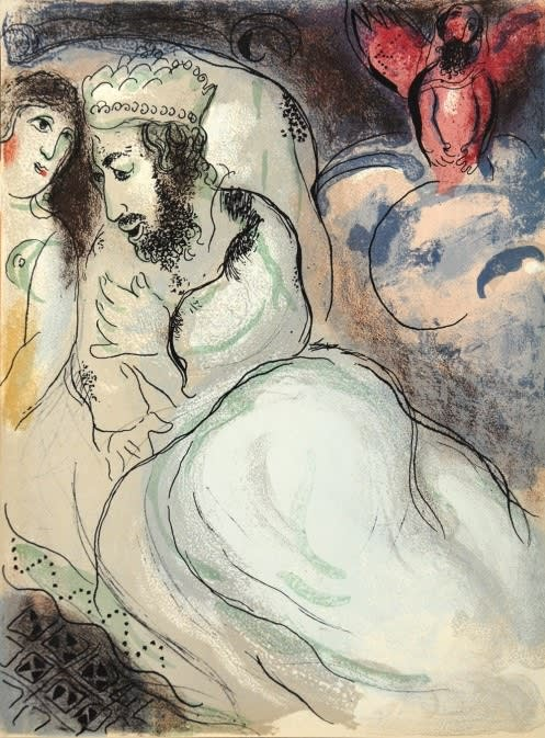 Marc Chagall Sarah and Abimelech, 1960