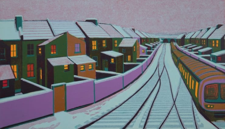 Gail Brodholt Snow In The Suburbs, 2008