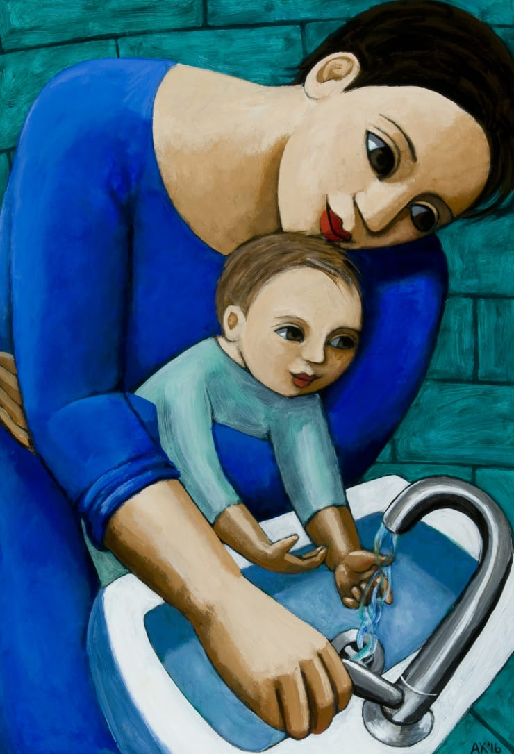Anita Klein Washing Hands, 2016