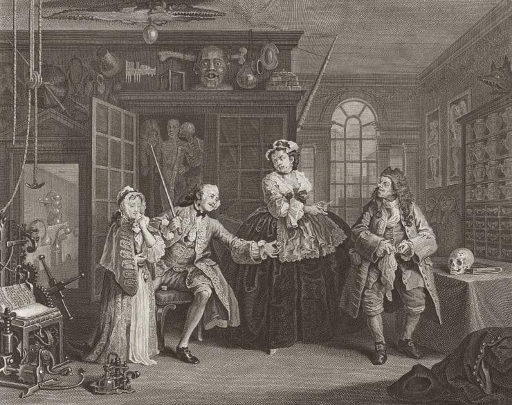 William Hogarth Marriage A-la-Mode, Plate 3, 1745
