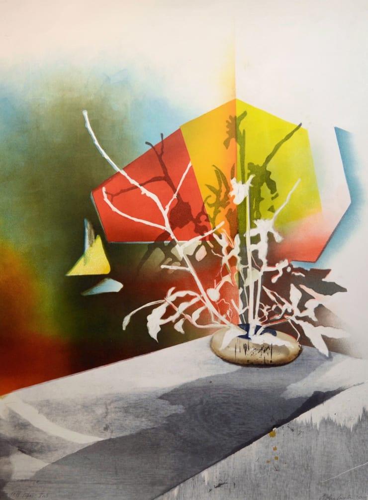 Sophie Layton Iris II, 2018 Signed and dated Monotype with mokuhanga 535 x 720 mm