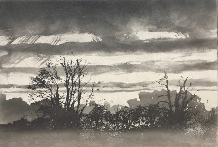 Norman Ackroyd Evening at Thirsk Hall, 2019