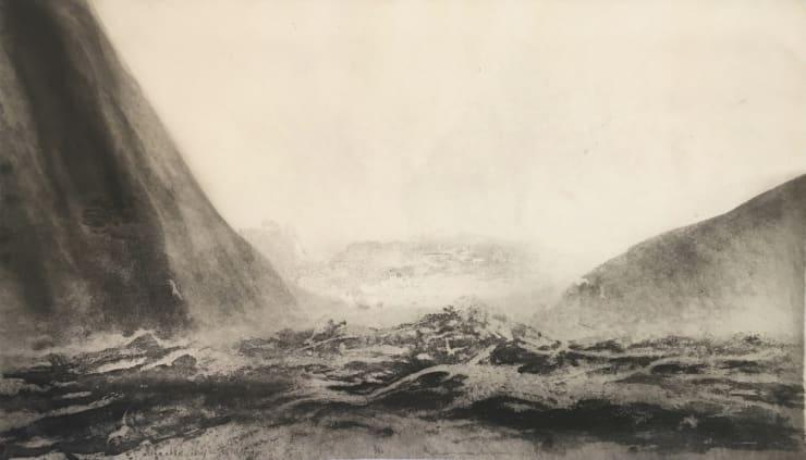 Norman Ackroyd Atlantic Sky - St. Kilda, 2019