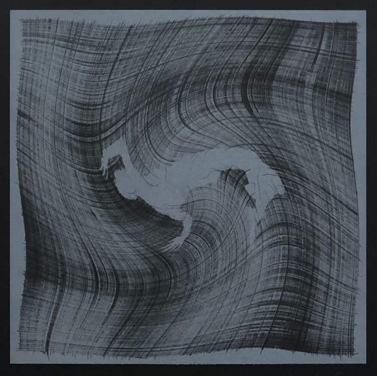 Veta Gorner Eternal Lines (on black), 2020