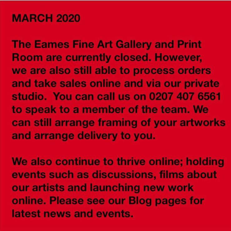 Eames Fine Art: continuing business online
