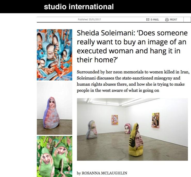Sheida Soleimani interview in Studio International
