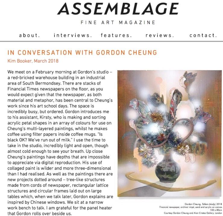 Gordon Cheung in Assemblage Magazine