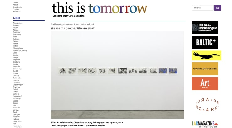 'We are the people. Who are you?' in This Is Tomorrow