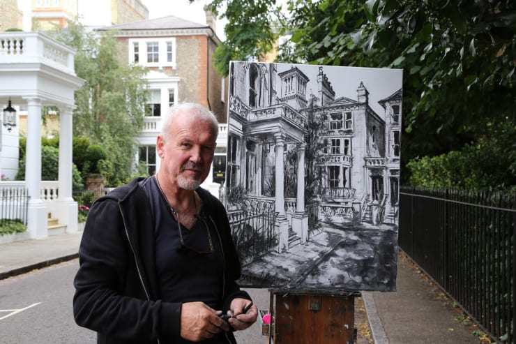 2017 07 29 Gerard Byrne Plein Air Painting Pintar Rapido London Carlyle Square Chelsea Photo Credit Agata Byrne 5