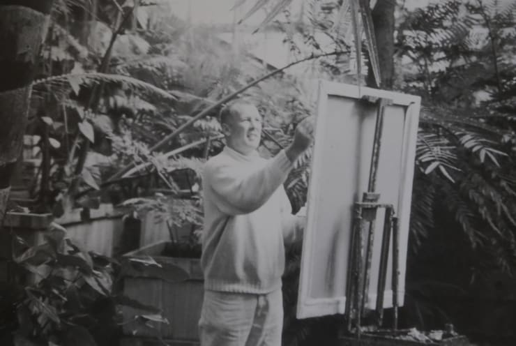 1998 Gerard Byrne Plein Air Painting Palm House National Botanic Gardens Of Ireland