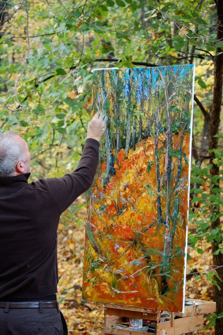 2007 10 28 Gerard Byrne Plein Air Painting The Fall Upstate New York Photo Credit Kay Mcnulty 1