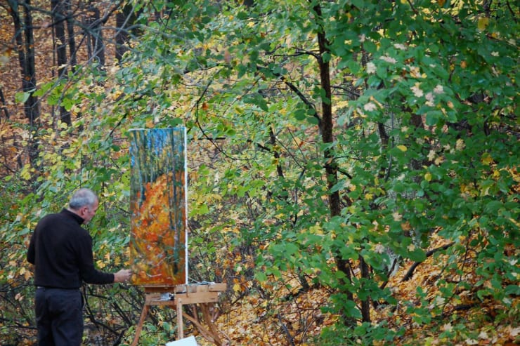2007 10 28 Gerard Byrne Plein Air Painting The Fall Upstate New York Photo Credit Kay Mcnulty 2