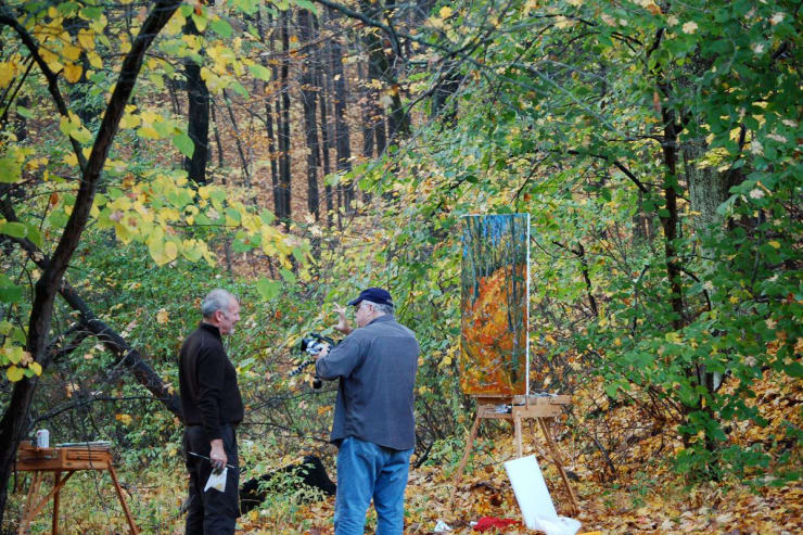 2007 10 28 Gerard Byrne Plein Air Painting The Fall Upstate New York Photo Credit Kay Mcnulty 3