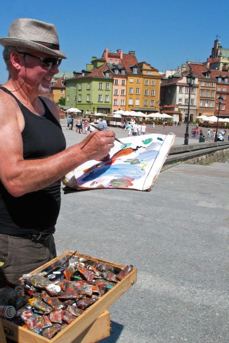 2010 06 Gerard Byrne Plein Air Painting Old Town Warsaw Poland Photo Credit Agata Byrne 2 1