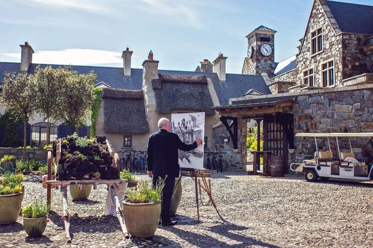 2013 06 12 Gerard Byrne Plein Air Sketching Doonbeg Lodge Ireland Photo Credit Michelle Garrihy 1