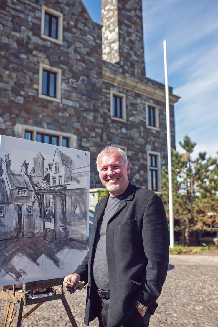 2013 06 12 Gerard Byrne Plein Air Sketching Doonbeg Lodge Ireland Photo Credit Michelle Garrihy 2
