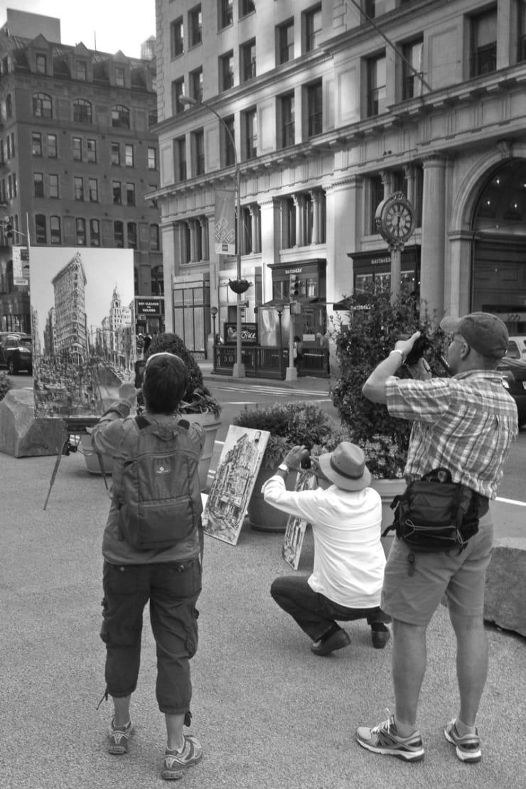 2014 06 12 Gerard Byrne Plein Air Sketch Flatiron New York Usa Photo Credit Gerard Byrne