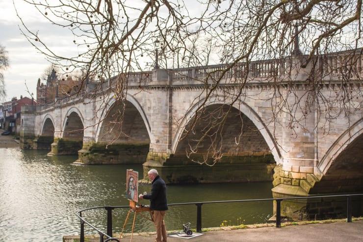2015 03 11 Gerard Byrne Plein Air Painting River Thames Richmond London Photo Credit Beth Kress